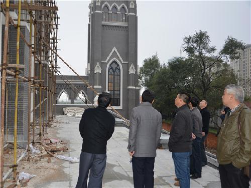 (图)盐城市民宗局检查市区宗教活动场所安全及建设情况