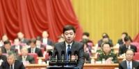 无锡市长汪泉宣布无锡地区生产总值破万亿。 孙权 摄 - 江苏新闻网