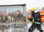 盐城举办全市消防部队夏季训练比武竞赛 - 消防总队