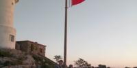 激动人心!五星红旗如往常一样在开山岛冉冉升起! - 新浪江苏