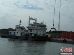 常泰长江大桥现场施工全面开启。 陆琳 摄 - 江苏新闻网